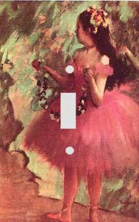 Edgar Degas Dancer in a Rose Dress Decorative Switchplate Cover