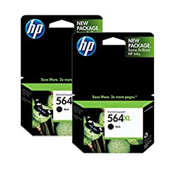 HP 564XL CN684WN#140 Ink Cartridge 2-PACK in Retail Packaging-Black