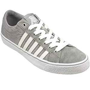 Mens K-Swiss Mens Adcourt LA WSDE-CVSVNZ in Grey White - UK 8.5