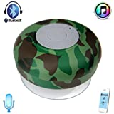 VicTsing Waterproof Portable Wireless Bluetooth Shower Speakers Mini Speaker 3W Shower Pool Car Handsfree with Microphone for iPhone 5S 5C 5 4S, iPad 4, iPad Mini, iPad air, iPod, MacBooks, Samsung Galaxy S5, Galaxy S4, Note 2, Note 3, HTC One M7 M8, Nok