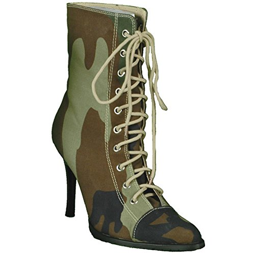 Sexy Lady Army Costume Boots (Size: Medium 7-8)