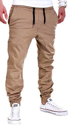 YUNY Mens Outdoor Harem Running Jogger Bottom Pants Khaki M (Men Jogger Pants compare prices)