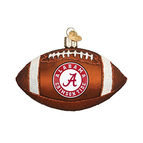 Old World Christmas Alabama Football Glass Blown Ornament (College Football Alabama compare prices)