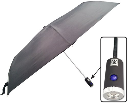 Rainworthy 42 Inch Led Umbrella - The Rainworthy Led Umbrella Is A Perfect Size For Purses, Briefcases, Backpacks And More. The Wholesale Discount Cheap Bulk Umbrella Features A Built In Led Light In