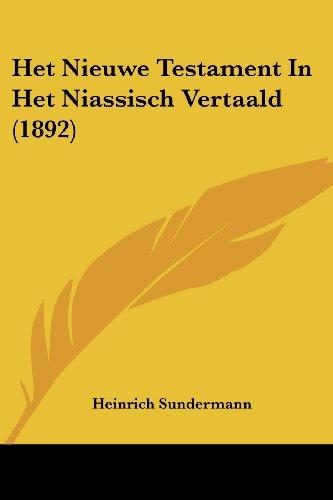 Het Nieuwe Testament in Het Niassisch Vertaald (1892)