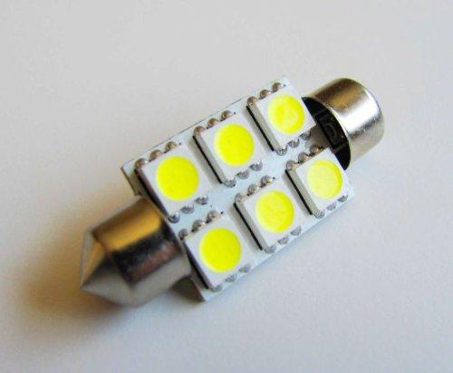37mm High Power 6 SMD LED Festoon Dome Bulb White