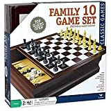 Cardinal Family 10 Game Set in a Distinctive Wood Cabinet