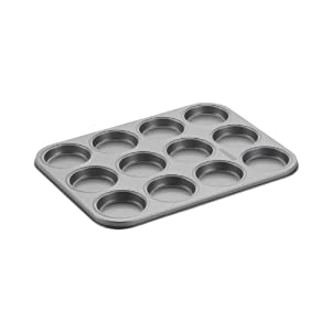 Cake Boss Novelty Nonstick Bakeware 12-Cup Whoopie Pie Pan, Gray