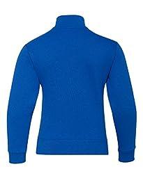 Jerzees Youth 8 oz.; 50/50 NuBlend� Quarter-Zip Cadet Collar Sweatshirt - ROYAL - XL