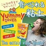 『世界初!Yummy Dough ヤミードー 食べられる粘土』子供の口に入っても安心!食べられる原材料で作られたカラフルで楽しい粘土。