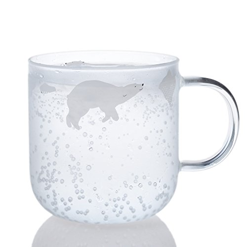 Polar Bear Gifts - Glass Mug with Handle 11.8 oz