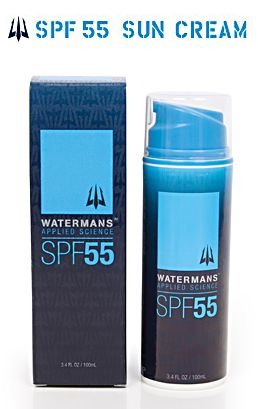 Watermans Applied Science Sunscreen Sun Screen Sun Cream Two Skin Tones Sports long lasting, sunblock, sweat proof, very sweat resistant, very water resistant, water proof, surf, surfing, scuba dive, swimming, SPF 55