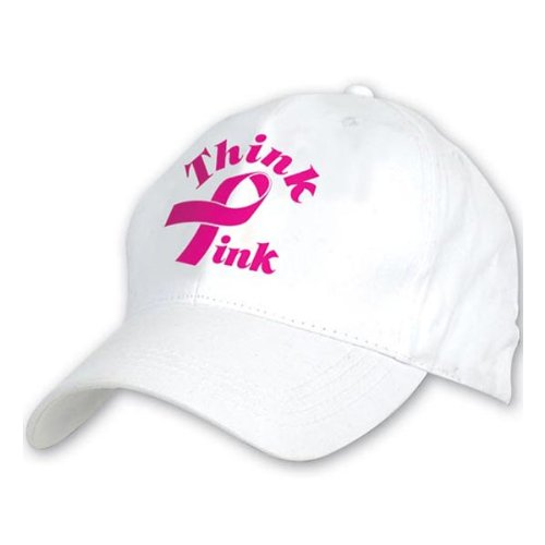 Embroidered Think Pink Cap Party Accessory (1 count) (1/Pkg)