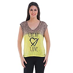 Meish Yellow Printed Top for Women