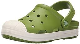 crocs Bump It K Clog (Toddler/Little Kid), Parrot Green/Oyster, 7 M US Toddler