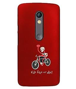 KolorEdge Back Cover For Motorola Moto X Style - Red (5868-Ke15101MotoXStyleRed3D)