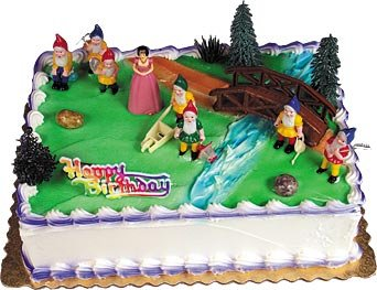 Snow White & 7 Dwarves Cake Kit - 1