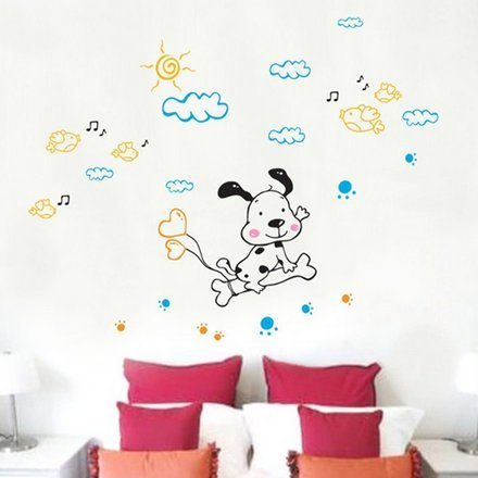 Children Room Kindergarten Decorative Wall Stickers Glass Stickers Spotted Dog front-752269