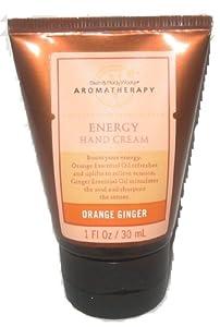 Bath & Body Works Aromatherapy Orange Ginger ~ Energy ~ Hand Cream, 1 fl. oz. (30 ml), Travel-Sized