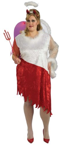 Plus Size Angelic Devil Lady Adult Costume - Womens Full 16-22