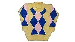 Rekha Knitting Kids Multi-Coloured Hand Knitted Woollen sweaters(3-4 Years)