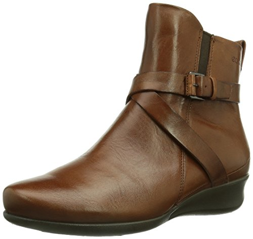 ECCO Women's Abelone Cross Buckle Boot,Mahogany,39 EU/8-8.5 M US (Ecco Women Shoes Boots compare prices)