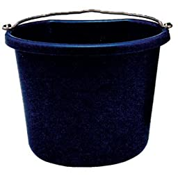 Fortiflex Flat Back Feed Bucket for Dogs/Cats and Small Animals, 20-Quart, Vivid Violet