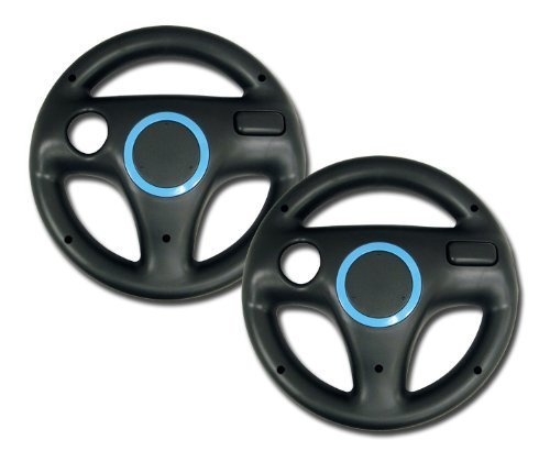 e-FortuneCity® Nintendo Wii Wheel for Mario Kart  x 2 Bundl