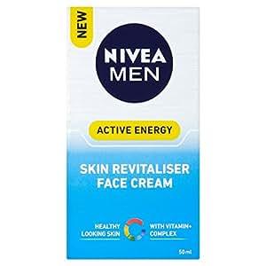 Nivea Men Active Energy Skin Revitaliser Face Cream 50ml (Pack of 2)