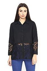 Black Lace Party Shirt