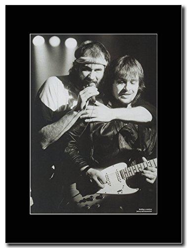 Marillion, Fish & Steve Rothery. Magazine Promo su un supporto, colore: nero