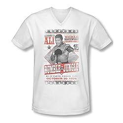 Muhammad Ali Rumble Poster Slim Fit V-Neck T-Shirt
