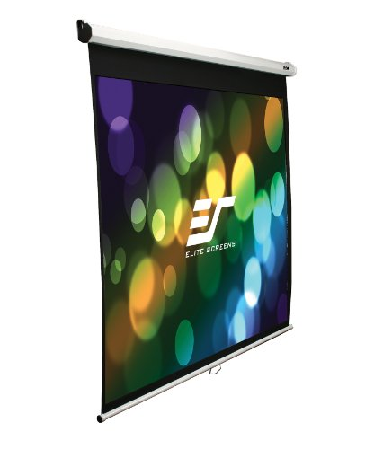 "Elite Screens 100 Inch 4:3 Manual Slow Retract Projector Screen (60""Hx80""W)"