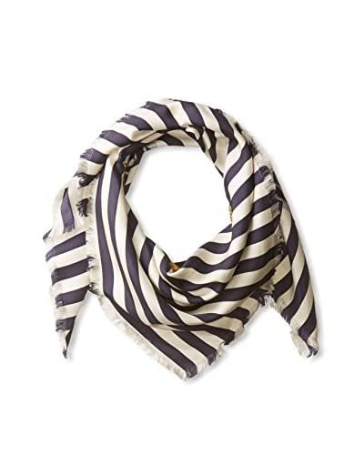 Gucci Men's Striped Scarf, Navy/White