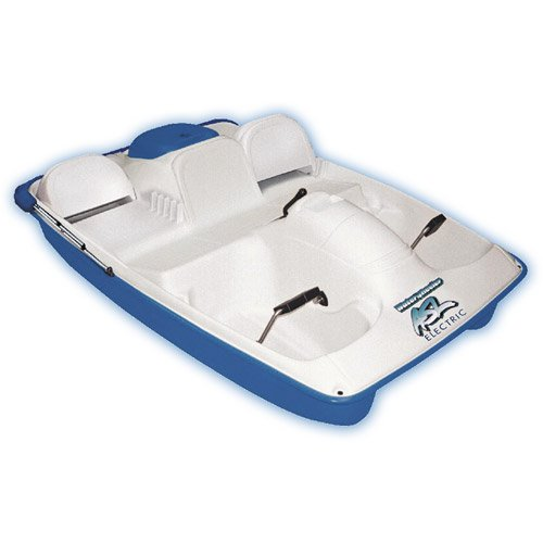 KL Industries Water Wheeler Electric ASL 5 Person Pedal Boat with Canopy