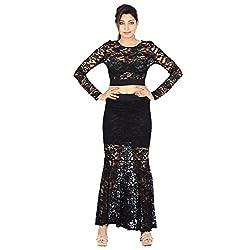 Danzon Women's Dress (SLS90193_Black_Medium)