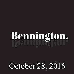Bennington, October 28, 2016 Radio/TV Program