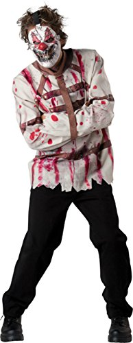 Incharacter Mens Funny Circus Psycho Theme Party Fancy Clown Costume