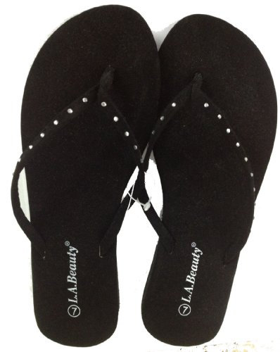 Women's Cammie (formerly L.A. Beauty) Rhinestone Sandals-Flats - Flip Flops - Shoes