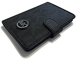 Michael Kors Fulton Passport Case Holder (Signature MK Black PVC)