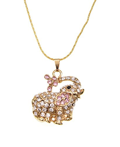 FEBNISCTE Cute Crystal Elephant Pendant 8GB USB Flash Drive with Necklace (1000 Usb Flash Drive compare prices)