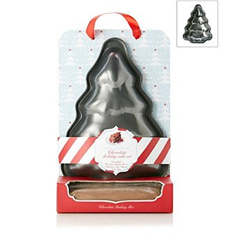 27136 Happy Holidays Chocolate Holiday Cake Christmas Tree Cake Pan & Mix Set by Coastal Cocktails