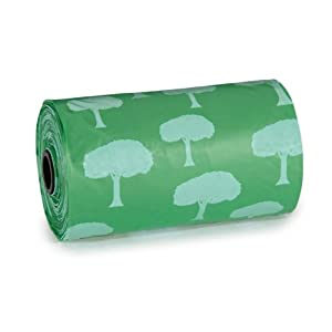 Biodegradable Green Tree Waste Bag for Dogs Pack of 4 (PEDS)(US372)