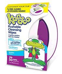 Kandoo Flushable Sensitive Toddler Wipes Tub 50ct (2 Pack)
