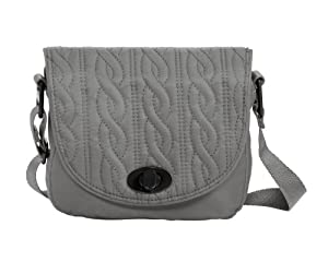 Baggallini Luggage Delight Mini Satin Quilted Crossbody Bag by Baggallini