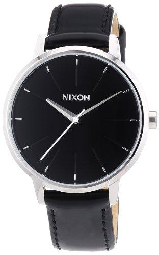 _ ) ? Nixon Womens The Kensington Leather Black Dial