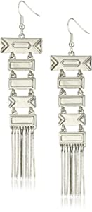 House of Harlow 1960 Totem Silver Plated Pole Earrings