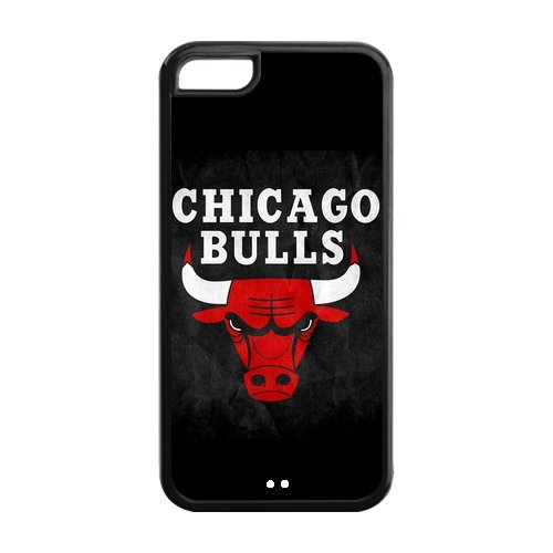 NBA Chicago Bulls Team Logo Custom Design TPU Case Back Cover For Iphone 5c iphone5c-NY415 at Amazon.com
