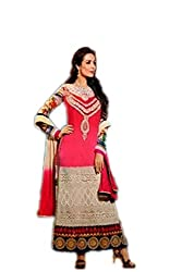 Glossy mallaika pink colored salwar suit