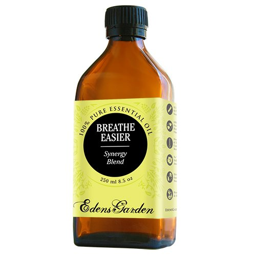Breathe Easier Synergy Blend Essential Oil by Edens Garden (Peppermint, Rosemary, Lemon & Eucalyptus)- 250 ml